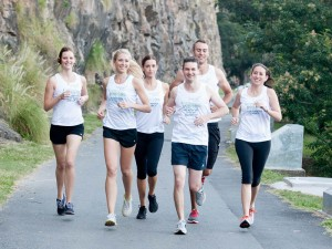 Group jogging